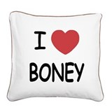 BONEY.png Square Canvas Pillow