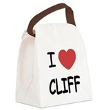 I heart CLIFF Canvas Lunch Bag