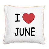 JUNE.png Square Canvas Pillow