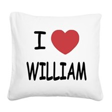 WILLIAM.png Square Canvas Pillow