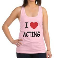 ACTING.png Racerback Tank Top