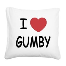 GUMBY01.png Square Canvas Pillow