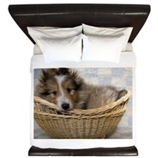 Sheltie Puppy King Duvet