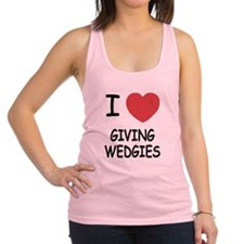 GIVING_WEDGIES.png Racerback Tank Top