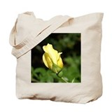 Yellow Rose Bud Tote Bag