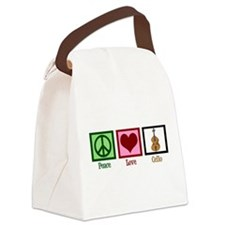 Peace Love Cello Canvas Lunch Bag
