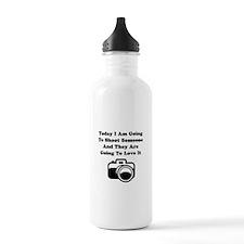 Shoot Someone Camera Water Bottle