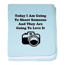 Shoot Someone Camera baby blanket