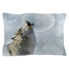 Wolf Blue Moon Pillow Case