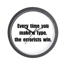 Typo Errorists Wall Clock