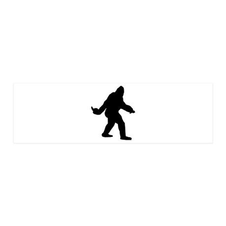Bigfoot Flips The Bird 36x11 Wall Decal