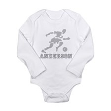 Personalized Soccer Long Sleeve Infant Bodysuit