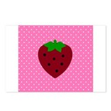 Pink Polka Dots and Strawberries Postcards (Packag