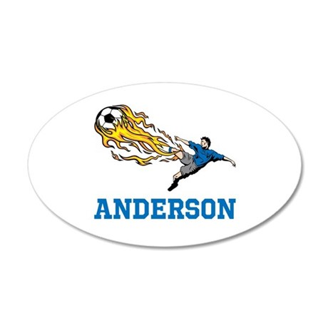 Personalized Soccer 20x12 Oval Wall Decal