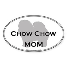 Chow Chow MOM Oval Decal