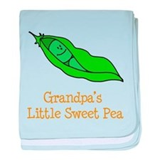 Grandpas Little Sweet Pea baby blanket