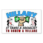 To Screw A Village! Sticker (Rectangle)