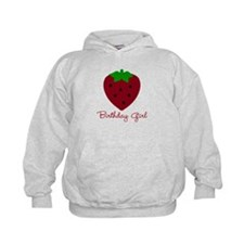 Red Strawberry Birthday Girl Hoody