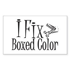 I Fix Boxed Color Rectangle Decal