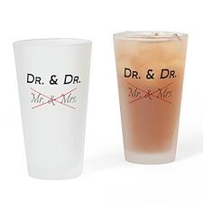 DOCTOR & DOCTOR - Not Mr. & Mrs! Drinking Glass
