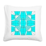 Cyan Owls Design Square Canvas Pillow