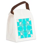 Cyan Owls Design Canvas Lunch Bag