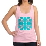 Cyan Owls Design Racerback Tank Top