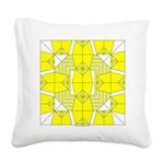 Yellow Owls Design Square Canvas Pillow