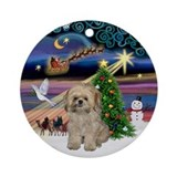 Xmas Magic & Shih Tzu (pdy) Ornament (Round)