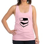 Stack Of Black Books Racerback Tank Top