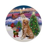 Santa's Take off & Golden (B2) Ornament (Round)