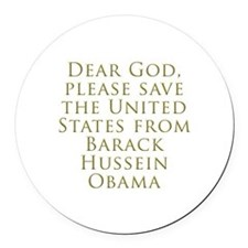 Save Us Round Car Magnet