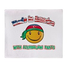 Azerbaijani Smiley Designs Throw Blanket