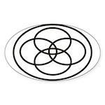 Plural Pride Symbol Sticker (Oval 50 pk)