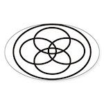 Plural Pride Symbol Sticker (Oval)