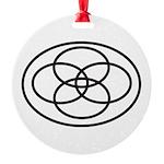 Plural Pride Symbol Round Ornament