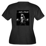 Beauty Bear Beast Women's Plus V-Neck Dark T-Shirt