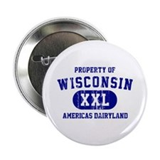 "Property of Wisconsin 2.25"" Button"