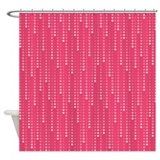 Pink Raindrop Dots Shower Curtain