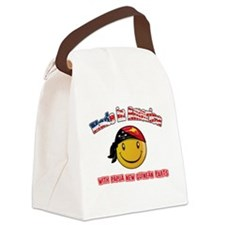 Papua New Guinean Smiley Designs Canvas Lunch Bag