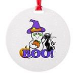 Halloween Ghost Round Ornament