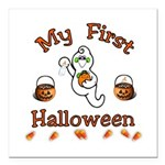 Babys First Halloween Square Car Magnet 3&quot; x