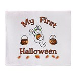Babys First Halloween Throw Blanket