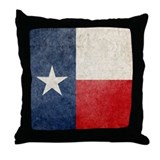 Faded Texas Flag Throw Pillow