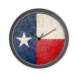 Faded Texas Flag Wall Clock