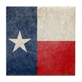 Faded Texas Flag Tile Coaster