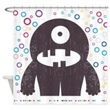Retro Monster Shower Curtain