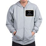 Rape is never legitimate Zip Hoodie