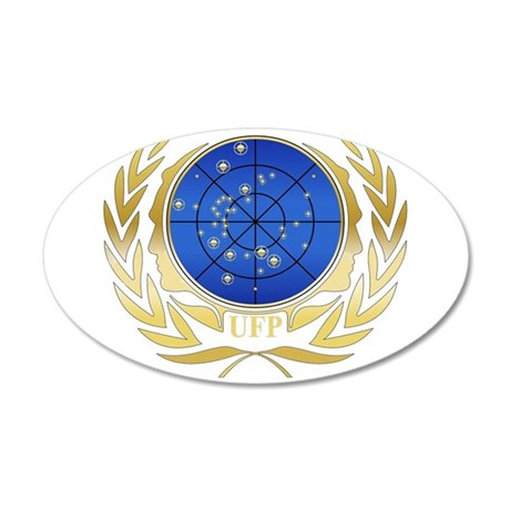 UFP Gold Logo 20x12 Oval Wall Decal