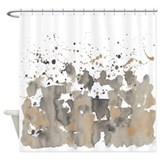 Beaver burst Shower Curtain